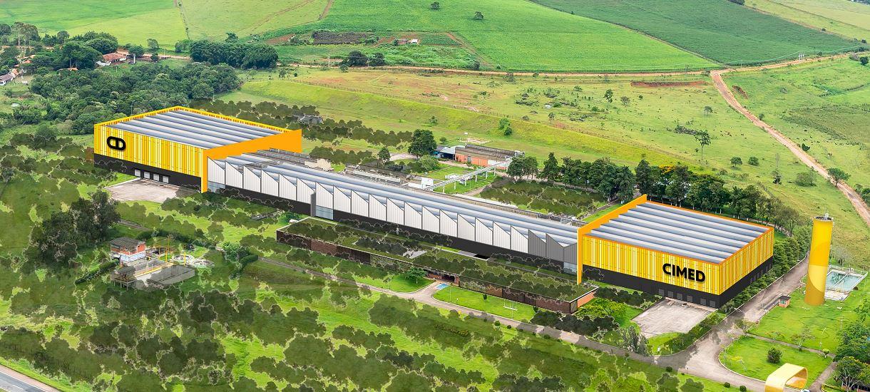 Ilustração de planta da nova fábrica.