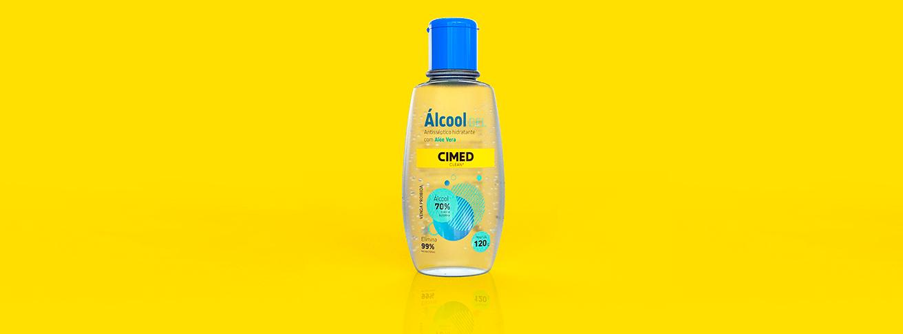 Imagem da Embalagem de Álcool gel antisséptico hidratante com Aloe Vera.