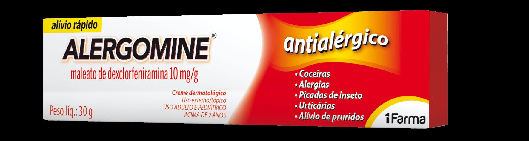 Imagem da embalagem de Alergomine Antialérgico Creme