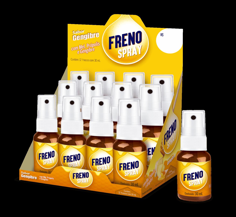 Imagem da embalagem do Freno Spray Sabor Gengibre.