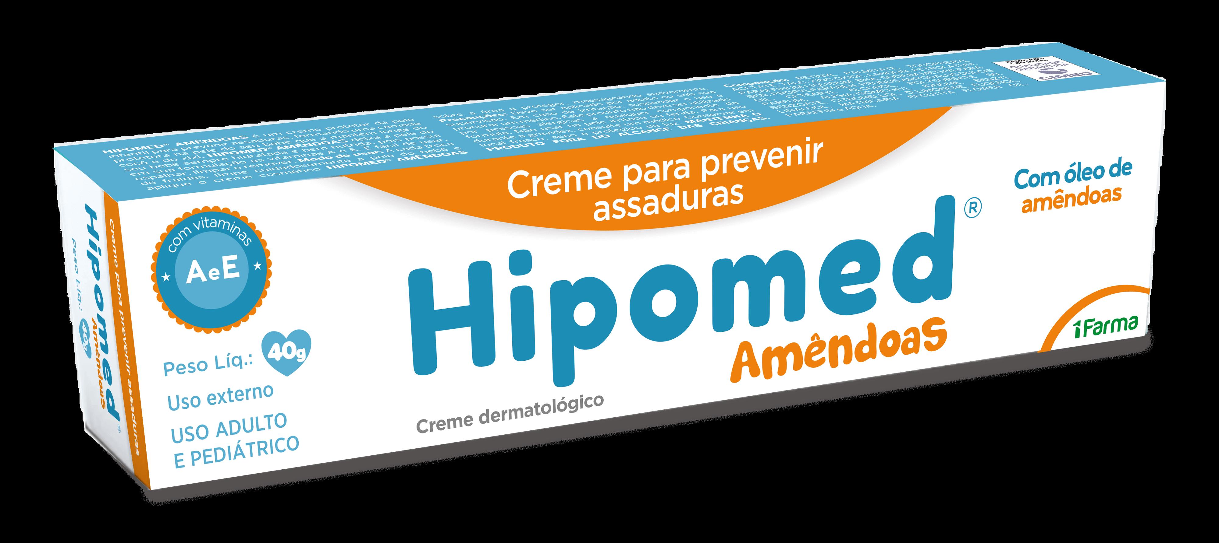 Imagem da embalagem do Hipomed Amêndoas.