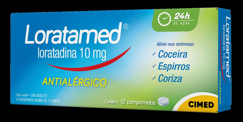 Imagem da embalagem do Loratamed Comprimido.