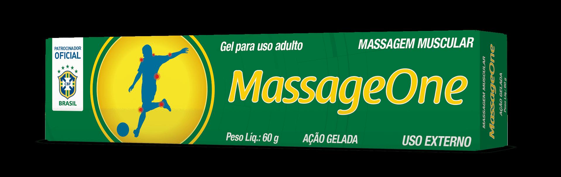 Imagem da embalagem do MassageOne Gel.