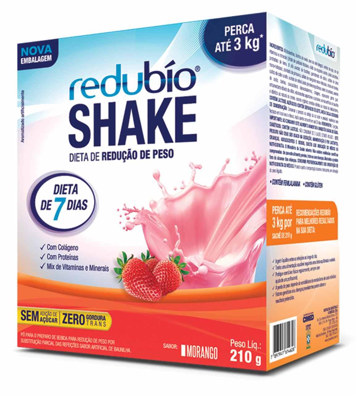 Imagem da Embalagem de Redubío Shake Morango