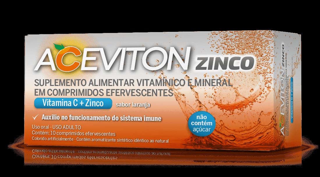 Imagem da embalagem do Aceviton Zinco.