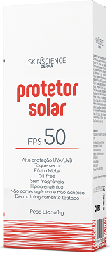 Imagem do produto protetor solar SkinScience FPS 50