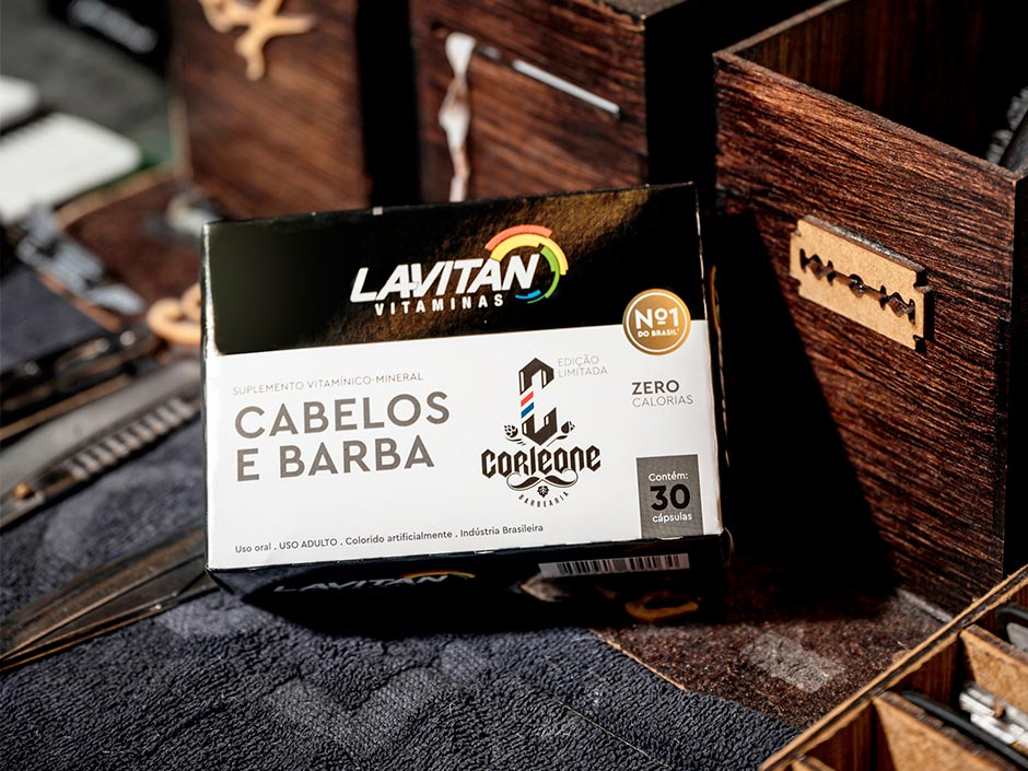 [RELEASE] Cimed e Barbearia Corleone lançam vitamina Lavitan Cabelos e Barba Corleone