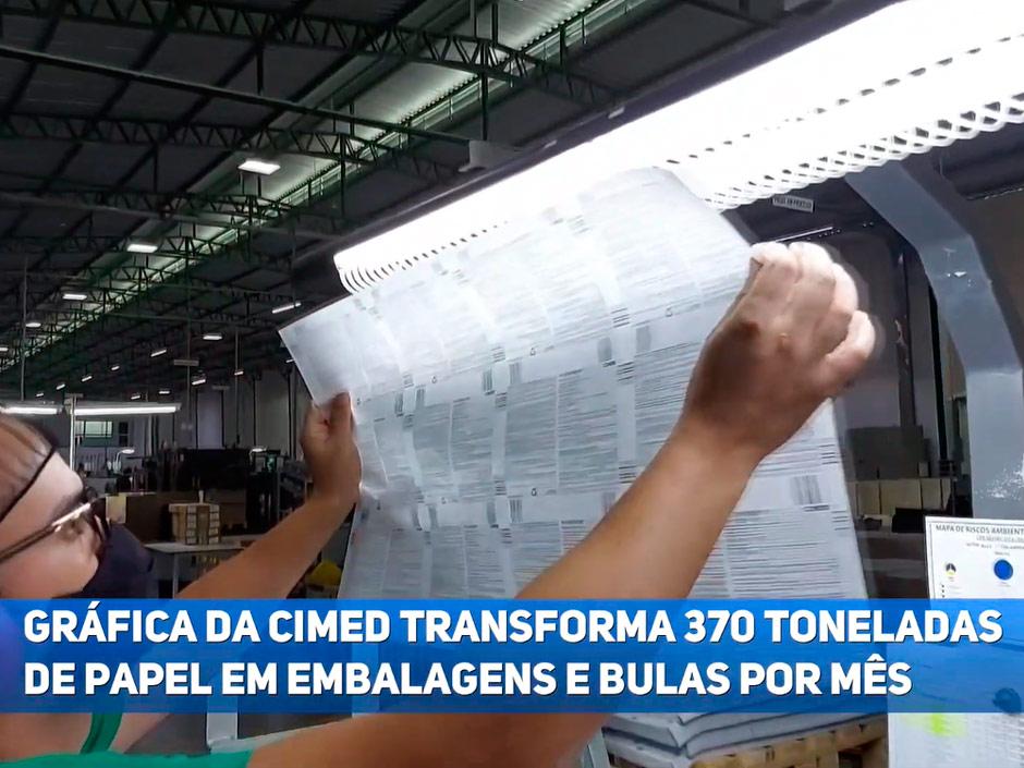 (Português) Gráfica da Cimed transforma 370 toneladas de papel em embalagens por mês